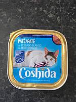 Корм для кошекCoshida паштетс белой рыбой 100г.