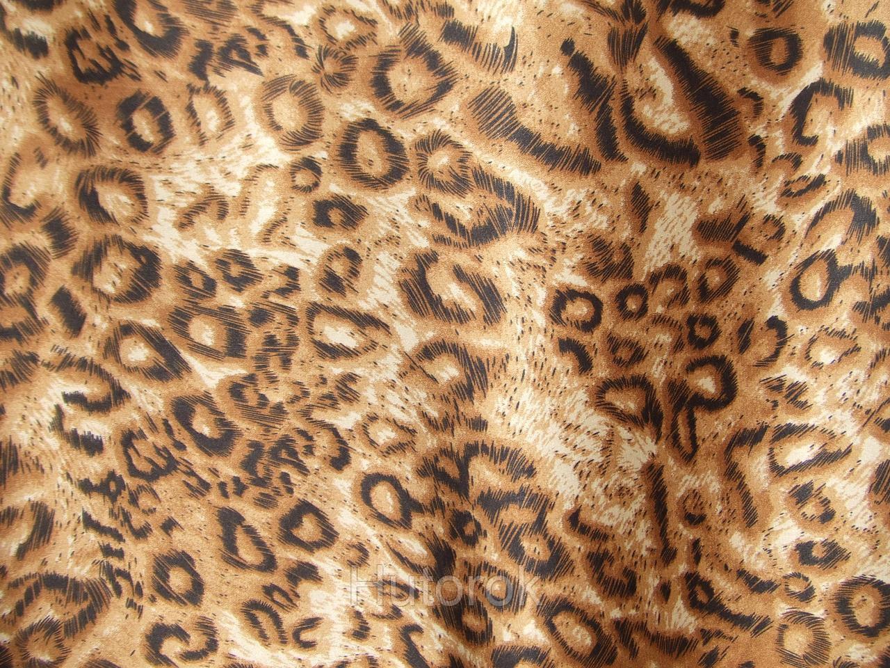 Атлас принт леопард