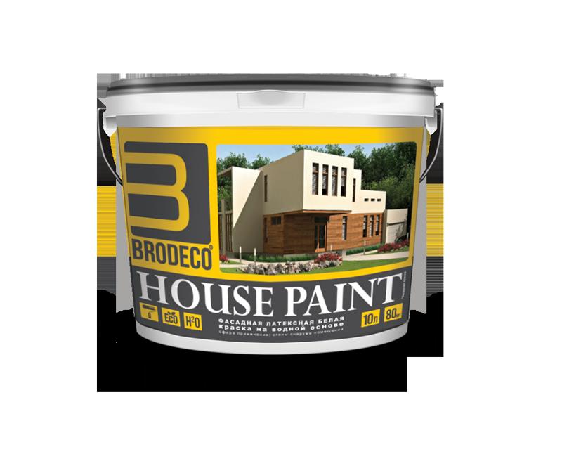 Фасадная латексная краска Brodeco House Paint 10 л.