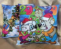 Новогодняя сувенирная подушка 2020  мыши-хулиганы из мультфильма про кота Леопольда