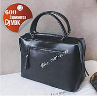 Женская кожаная сумка черная реплика Селин , сумки женские Молодежные