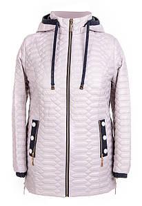 Осенние куртки женские большие размеры   52-66  бежевый