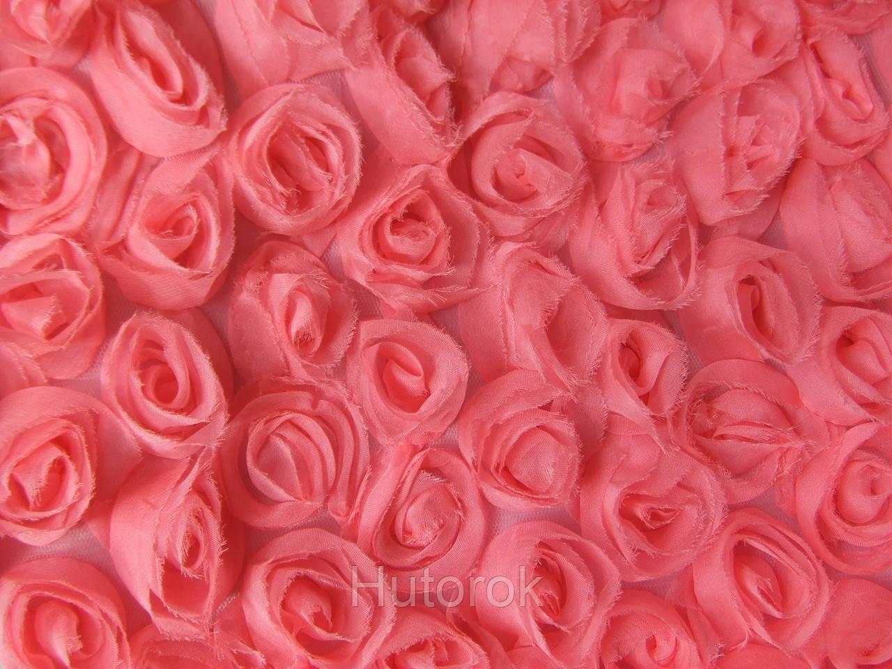 Шифоновые розы 3D (розовый)