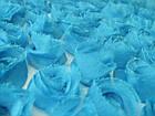 Ткань ШИФОНОВЫЕ РОЗЫ НА СЕТКЕ (3D), фото 2