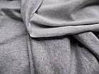 Трикотаж двунитка (серый меланж), фото 2