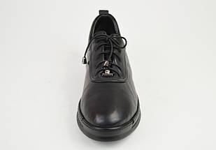 Туфли женские на шнуровке кожаные Euromoda 375, фото 3