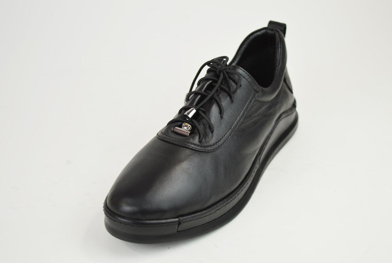 Туфли женские на шнуровке кожаные Euromoda 375