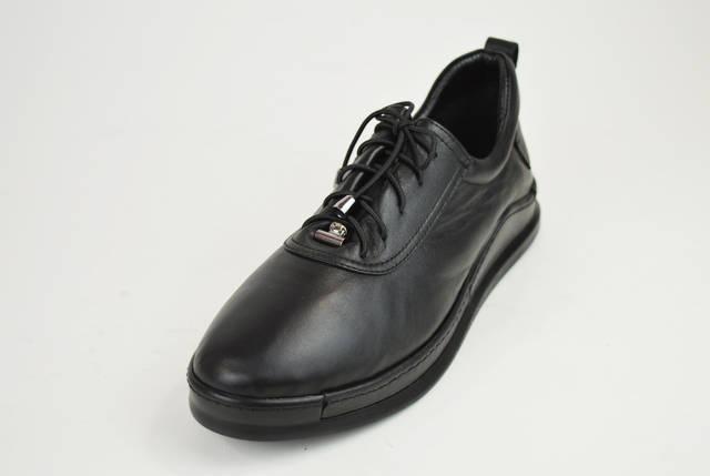 Туфли женские на шнуровке кожаные Euromoda 375, фото 2