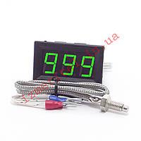 Высокотемпературный цифровой термометр с выносным датчиком -60...999 °C, фото 1