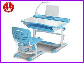 Комплект парта и стульчик Evo-kids BD-04 B New с лампой
