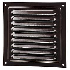 Решітка вентиляційна (метал) Вентс МВМ 250с коричнева