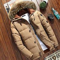Мужская зимняя куртка пуховик JEEP в наличии! (YD7_02), бежевая. Размер 46-50, фото 1