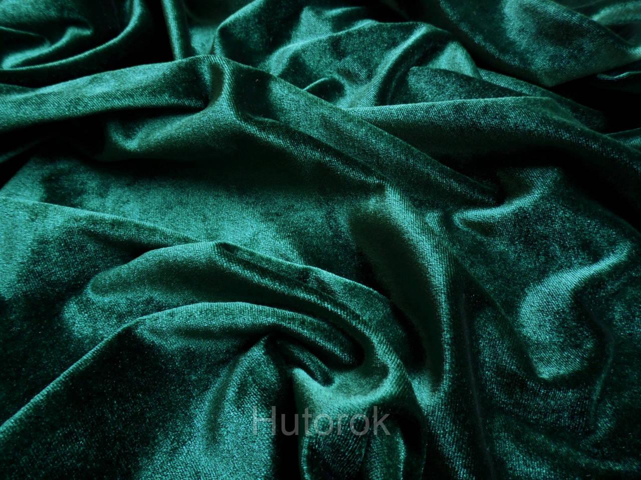 Бархат стрейч (зеленый изумруд)
