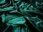 Бархат стрейч (зеленый изумруд), фото 3