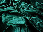 Ткань БАРХАТ СТРЕЙЧ ЦВЕТ (ИЗУМРУД), фото 3
