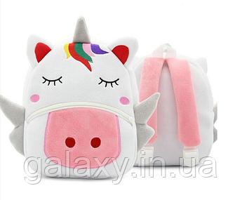 Eдинорог Рюкзак Детский Плюшевый 3D с животными KAKOO