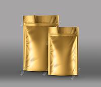 Дой-пак золото 140x250 (40+40) 100 шт.