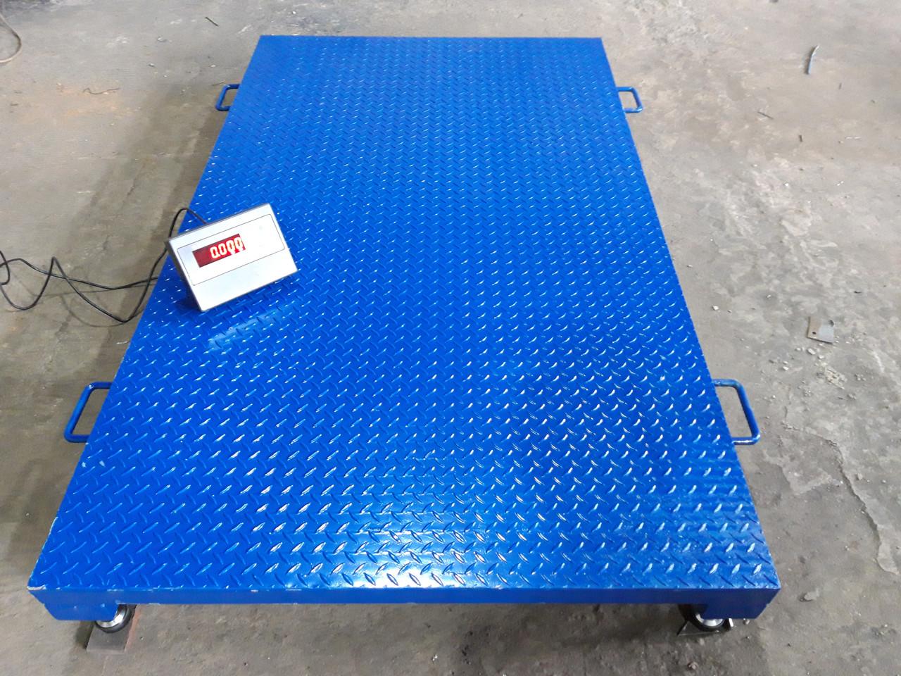 Усиленные платформенные весы 2000 х 1200 (4000 кг) лист рифленка 4мм