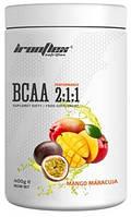 Аминокислоты IronFlex - BCAA 2:1:1 (400 грамм) mango-maracuja/манго-маракуя