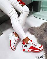 Кроссовки Dolce Gabbana Off white. 🔺Цвет: красно-белый 36 размеры