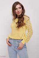 Модный женский джемпер Астрид лимонный (44-48)