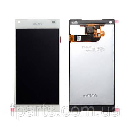Дисплей для Sony Xperia Z5 Compact E5803, E5823 с тачскрином (White), фото 2