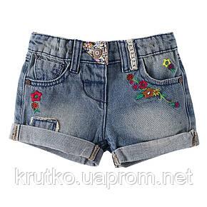 Джинсовые шорты для девочки Цветочки Jumping Beans (5 лет), фото 2