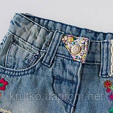 Джинсовые шорты для девочки Цветочки Jumping Beans (5 лет), фото 3