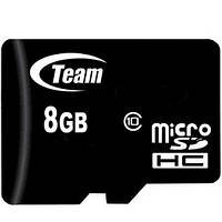 Карта памяти MicroSDHC 8GB Class 10 Team UHS-I (TUSDH8GCL1002)