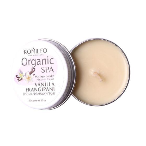 Масажна свічка Komilfo Massage Candle - Vanilla Frangipani, 20 г
