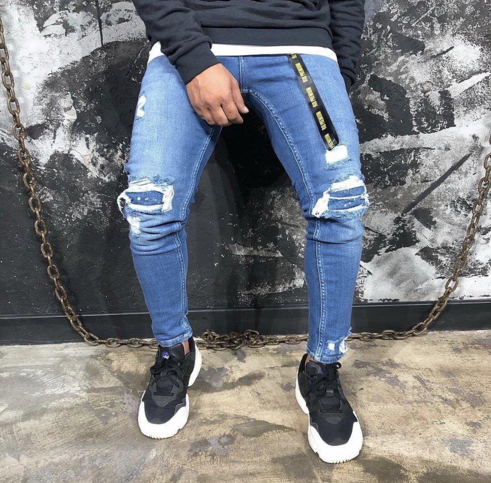 Мужские джинсы зауженные SK 2745-3 blue