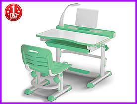 Комплект парта и стульчик Evo-kids BD-04 Z New с лампой