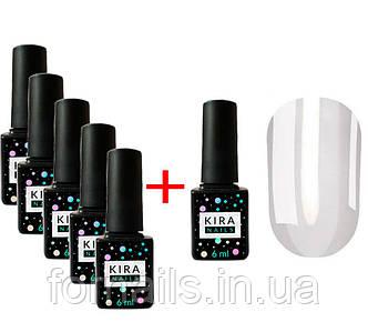 Акция! 5 Гель-лаков Kira Nails + Kira Nails V17 в подарок
