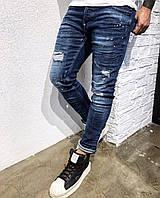 Мужские джинсы зауженные Black Island 3284 blue, фото 1