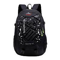 Мужской туристический рюкзак черный
