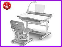 Комплект парта и стульчик Evo-kids BD-04 G New с лампой, фото 1