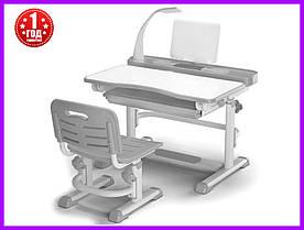 Комплект парта и стульчик Evo-kids BD-04 G New с лампой