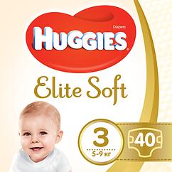 Подгузники Huggies Elite Soft Midi 3 (5-9 кг), 40шт