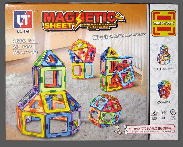 """Магнітний конструктор LT 1002 """"Фігури"""", 46 деталі"""