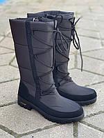 Дутики женские зимние оптом на шнурках Прогресс, фото 1