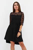 S, M, L / Вишукане романтичне плаття Adelin, чорний