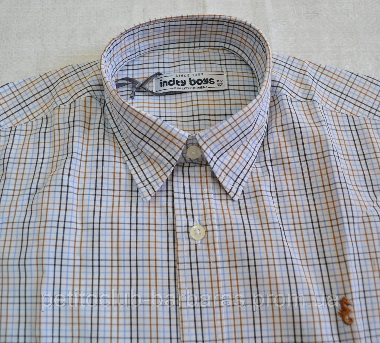 Детская рубашка для мальчика в клетку р. 146-158 см (InCity, Турция)
