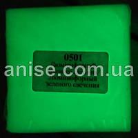 Полимерная глина Пластишка, №0501 салатовый люминофорный, фосфоресцентный 75г / Полімерна глина Пластішка 0501