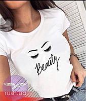 Футболка женская с принтом Beauty