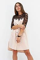 M, L / Вишукане романтичне плаття Adelin, бежевий M (44-46)
