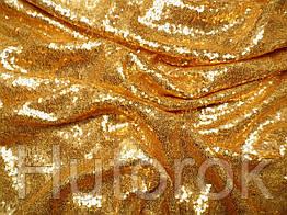 Пайеточная ткань мелкая (золото)
