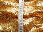Пайеточная ткань мелкая (золото), фото 2