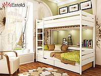 Двухъярусная кровать Дуэт 90 х 200 массив разные цвета