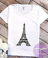 Футболка женская с Эйфелевой башней Paris