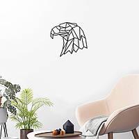 Орёл деревянный Орёл с фанеры Орёл черный Орёл на стену Голова орла Крашеная фанера Декор гостинной